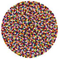 Felt Ball Rug Lotte | Multicolour