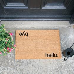 Doormat Hello, Bye