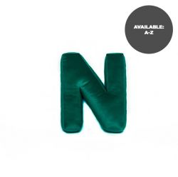 Cushion Letter Velvet Green | N