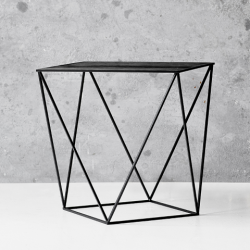 Trigona Side Table | Black & Wood