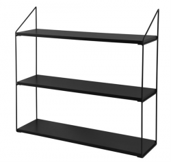 Wall Rack 3 Shelves | Black