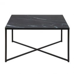 Coffee Table Ali 80 x 80 | Black Marble