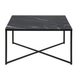 Table d'Appoint Ali 80 x 80 | Noir Marbre