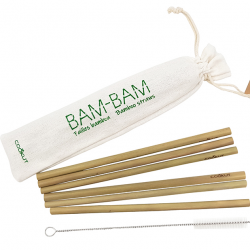 Reusable Bamboo Straws | Set of 6