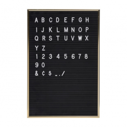 Black Letter Board + White Letters