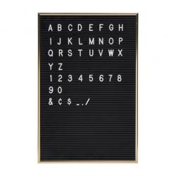 Tableau à Lettres Noir + Lettres Blanches