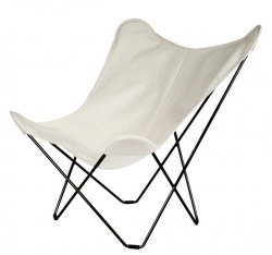 Outdoor Butterfly Chair Sunbrella Sunshine Mariposa | Oyster