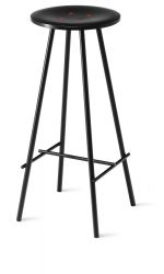 Nam Nam Bar Stool Nerved Black & Orange