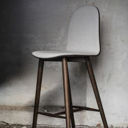 Nam Nam Bar Stool Wood | Dark & Grey