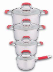 Küchenset mit 3 Kochtöpfen und 1 Stielkasserolle