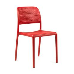 Chaise Empilable Bora Bistrot | Rouge