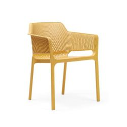 Chaise Empilable Net | Jaune Moutarde