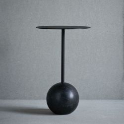 Table Knock Out Ronde | Marbre Noir