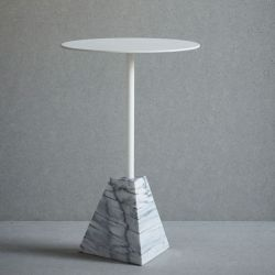 Knock Out Table Pyramid | White Marble