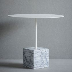 Knock Out Table Square | White Marble