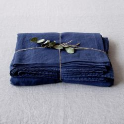 Fitted Bed Sheet | Navy Blue