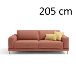 Sleeping Sofa Naxos L 205 cm | Red