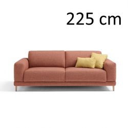 Sleeping Sofa Naxos L 225 cm | Red