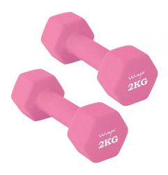 Set of 2 Neoprene Dumbbells 2 kg | Pink