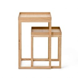 Side Tables Nest Set of 2 | Oak