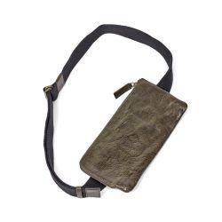 Kreuztasche | Leder | Olive
