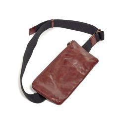Kreuztasche | Leder | Rot