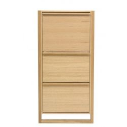 Shoe Cabinet 3 Door NewEst | Oak