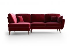 Corner Sofa Left Auteuil | Red