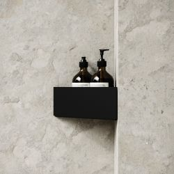 Storage Bath Shelf Corner | Black