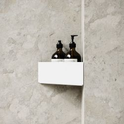 Storage Bath Shelf Corner | White