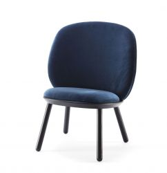Low Chair Naïve | Blue Velour