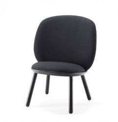 Low Chair Naïve | Black Kvadrat Fabric