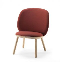 Low Chair Naïve | Cognac Kvadrat Fabric