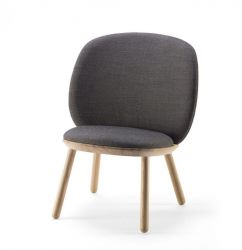 Low Chair Naïve | Grey Kvadrat Fabric