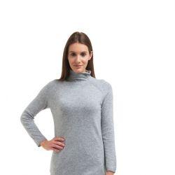 Rollkragenpullover mit langen Ärmeln für Frauen | Medium Grau