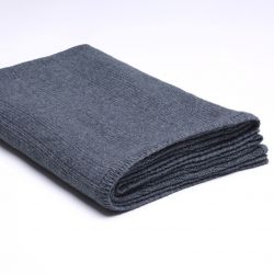 Ribbed Knitted Throw | Dark Grey