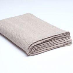 Ribbed Knitted Throw | Beige