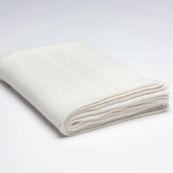Ribbed Knitted Throw | Cream