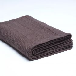 Ribbed Knitted Throw | Dark Dove