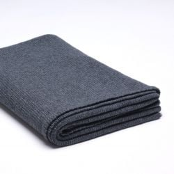 Stocking Knitted Throw | Dark Grey