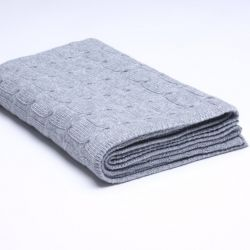 Braided Knitted Throw | Grey