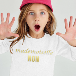 Kids Sweater Mademoiselle Non | White