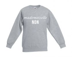 Kids Sweater Mademoiselle Non | Grey