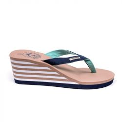 Wedge Flip Flops | Nude & Navy