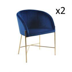 Stühle Nel 2er-Set | Blau / Gold