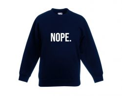 Kids Sweater Nope | Bleu