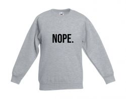Kids Sweater Nope | Grey