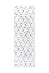 Teppich Nora 433 - 80 x 250 | Weiß - Anthracit