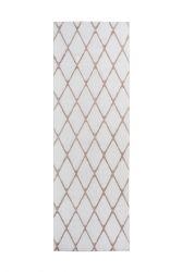 Tapis Nora 433 - 80 x 250 | Blanc - Rosé