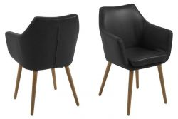 Set of 2 Armchairs Ronka | Black